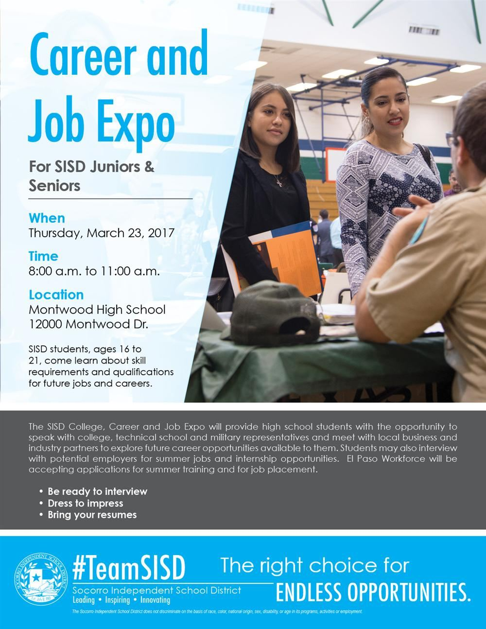2017 career and job expo flyer new jpg 2017 career and job expo flyer new