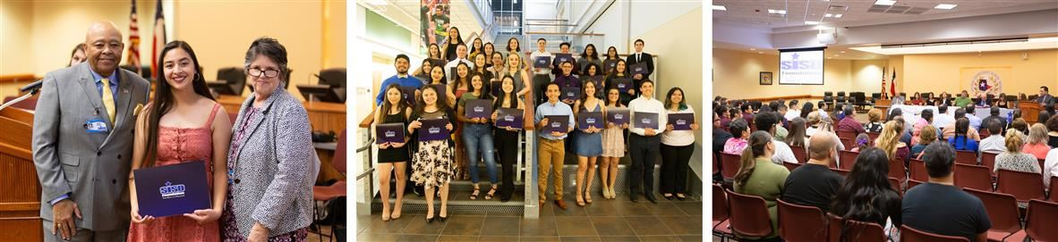 SISD Foundation Scholarship students at event