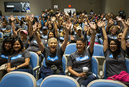 SISD educators continue strong connections with parents, families in 2nd annual Stand and Deliver