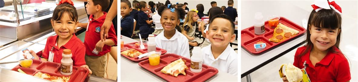 Students with school prepared meals