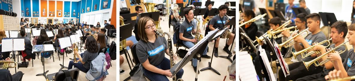 Puentes students performing in class