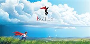 Station logo- figure in a red cape amongst the clouds