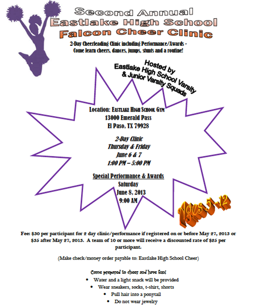 Cheer Clinic Flyer