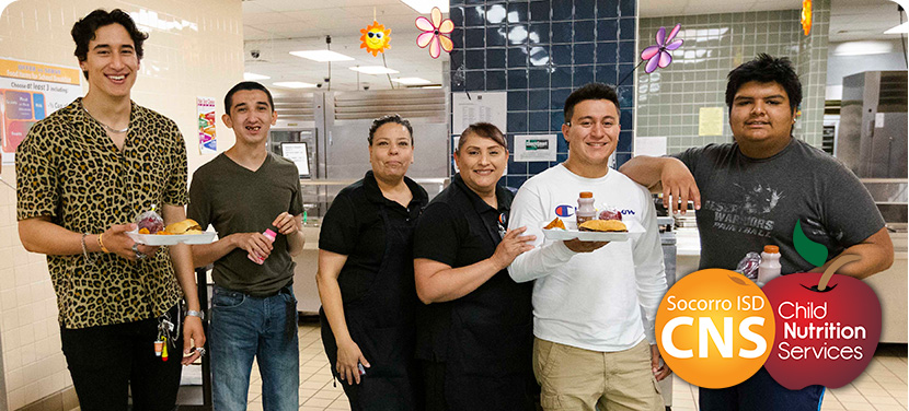SISD high school students getting lunch