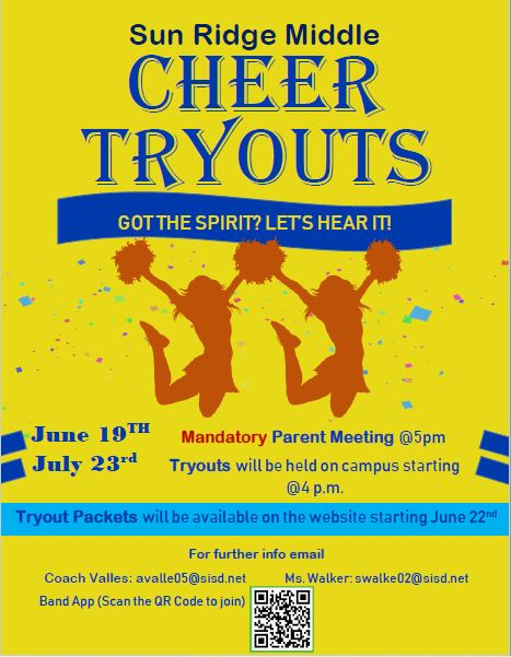 Cheer Tryouts Flyer