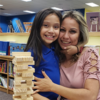 SISD student with mother spending time together in after school program