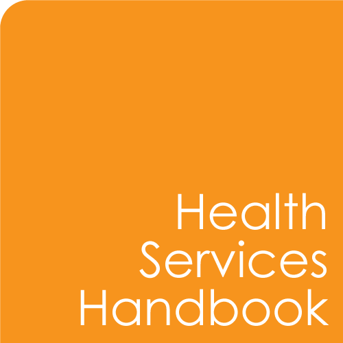 Health Services Handbook button
