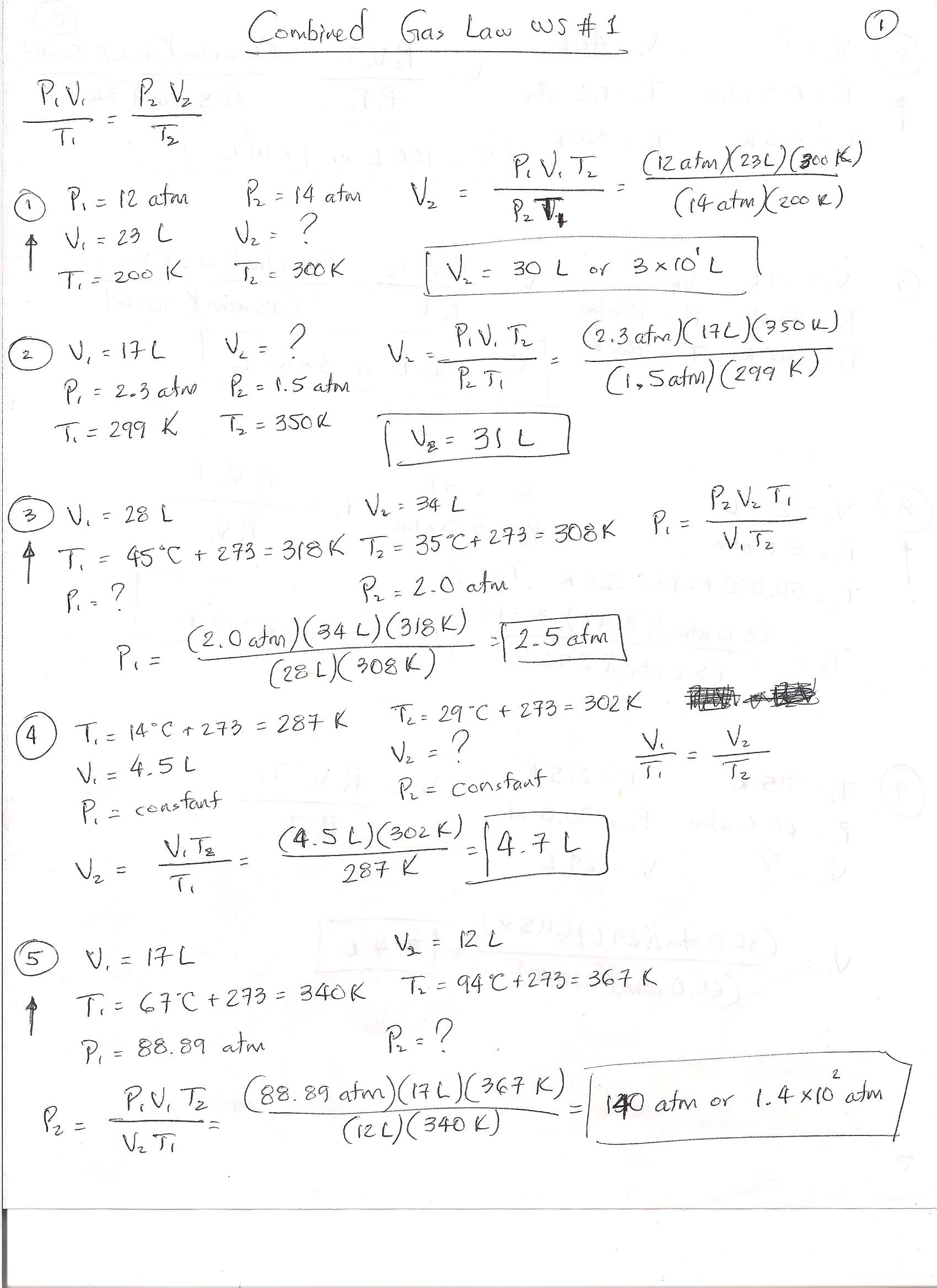Gas Laws Worksheet Free Worksheets Library – Combined Gas Law Worksheet Answers