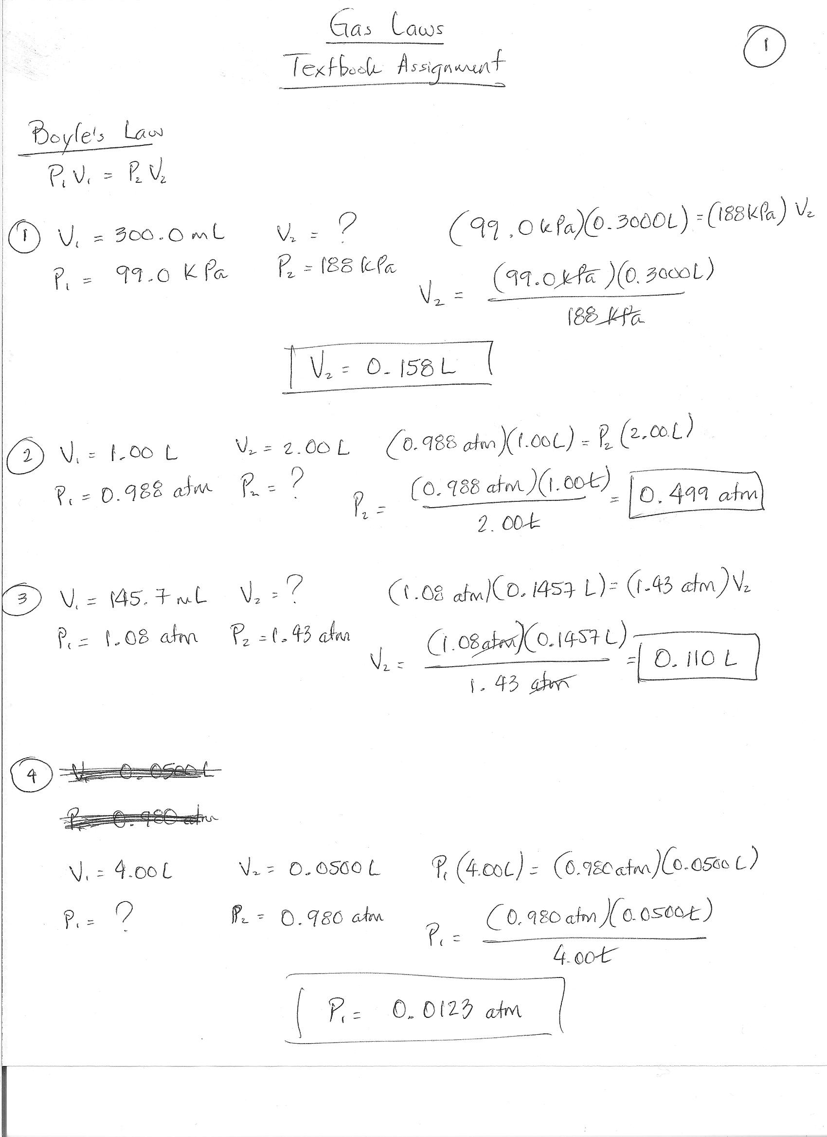 Gay Lussac Law Worksheet – Boyles and Charles Law Worksheet