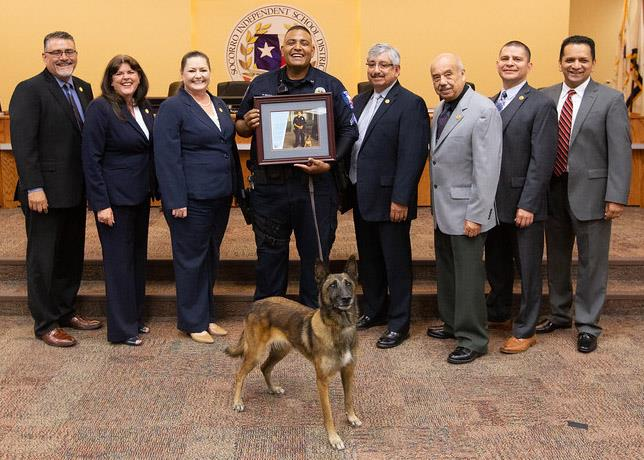 Officer Delgado, Uma and Board of Trustees