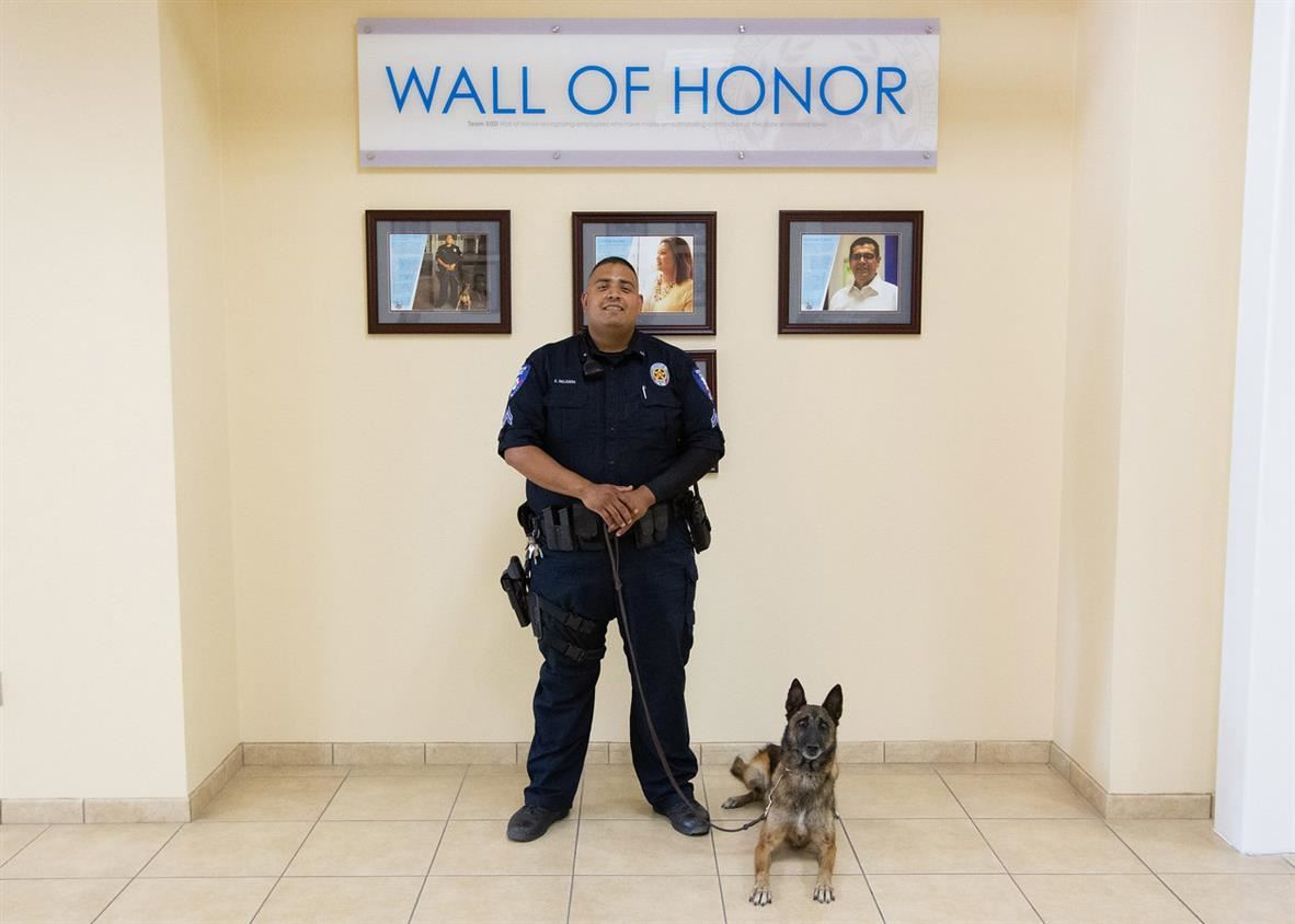 Officer Delgado Uma Wall of Honor