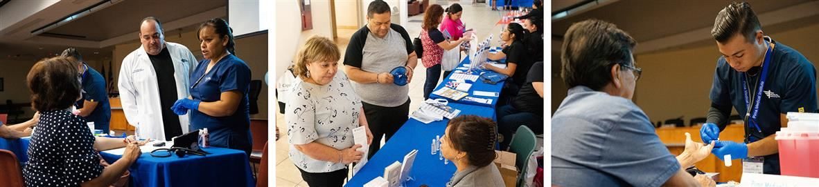 Images of community at health fair