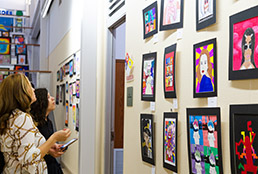 Team SISD gathers for the first-ever pop art contest