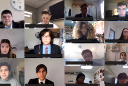 Americas High School students participating in virtual speech and debate