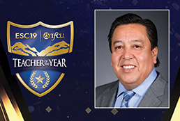 Graphic of 2021 ESC Region 19 Elementary Teacher of the Year Pedro Gurrola