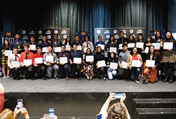 Group photo of Montwood High students with UTEP scholarships