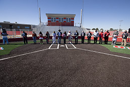 Ribbon cutting at new Socorro High School softball field