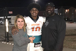 Group photo with Pebble Hills High School student-athlete Kenneth Cooper Jr