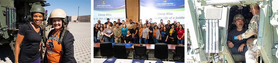 Images of educators participating in Camp Bliss events