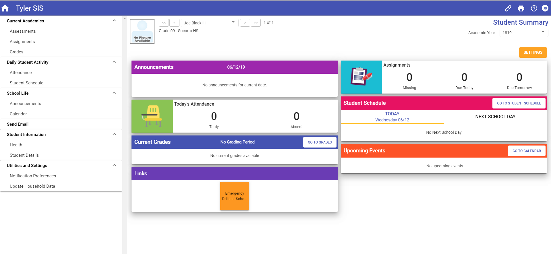 Upgraded Student 360 Parent Dashboard Screenshot