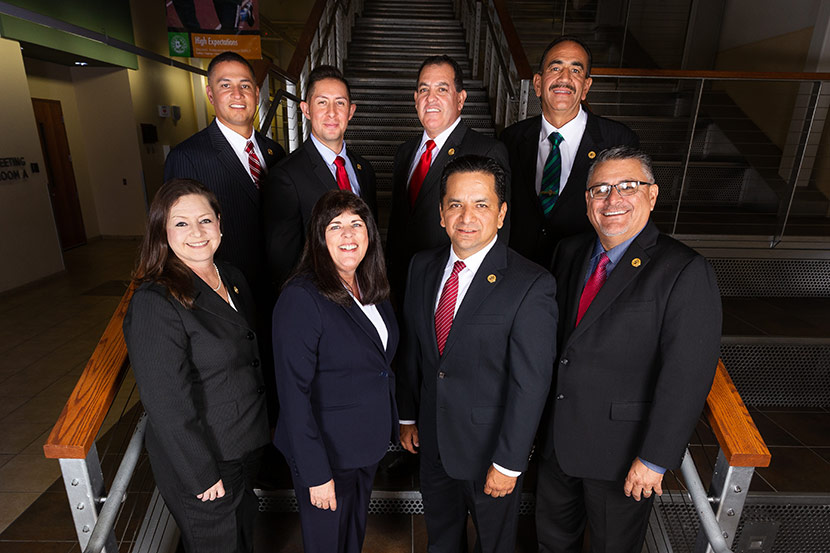 Group photo of the 2019-2020 Socorro ISD Board of Trustees