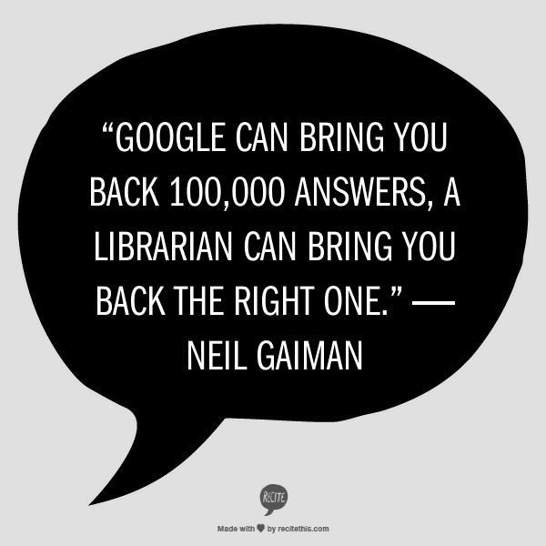 A librarian is better than Google