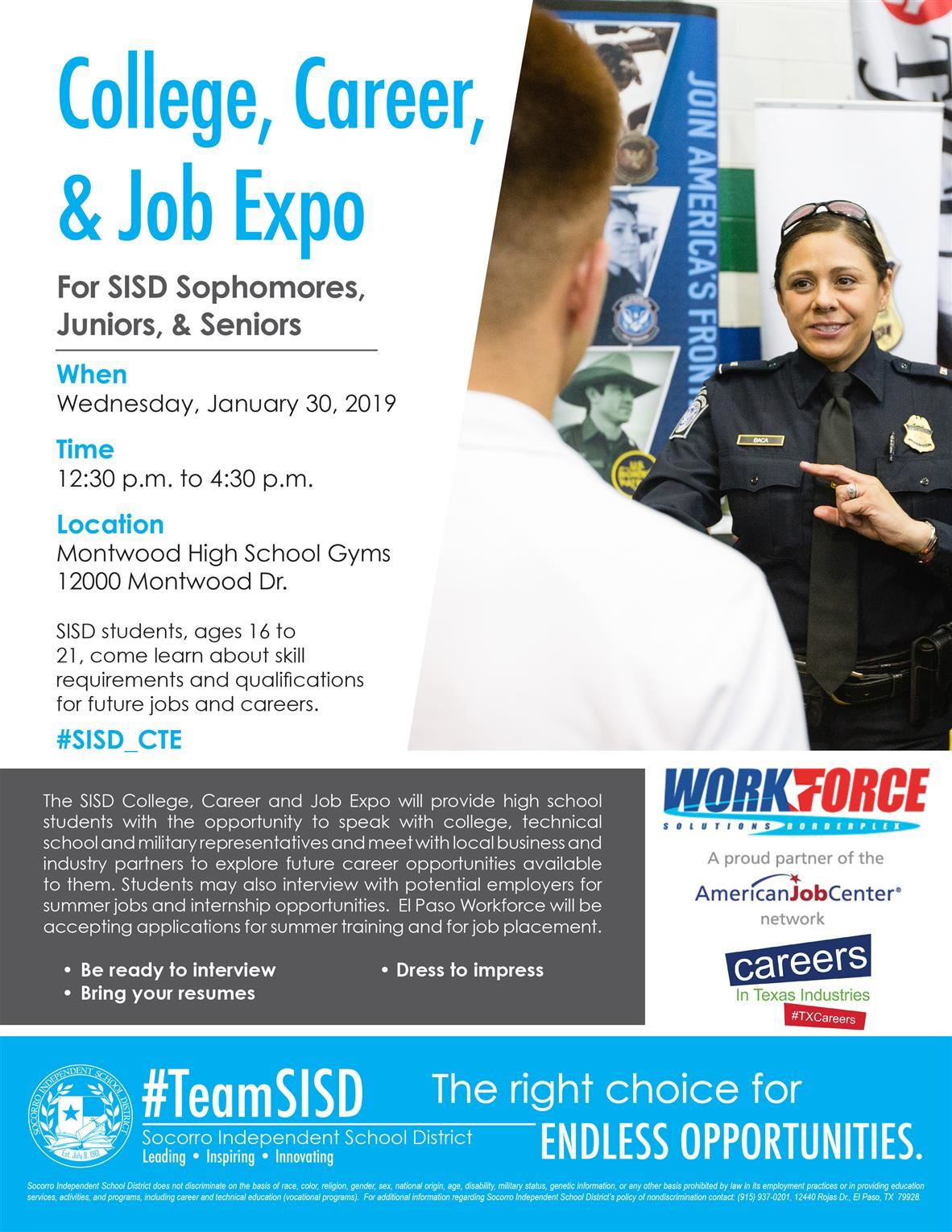 2019 Career and Job Expo Flyer