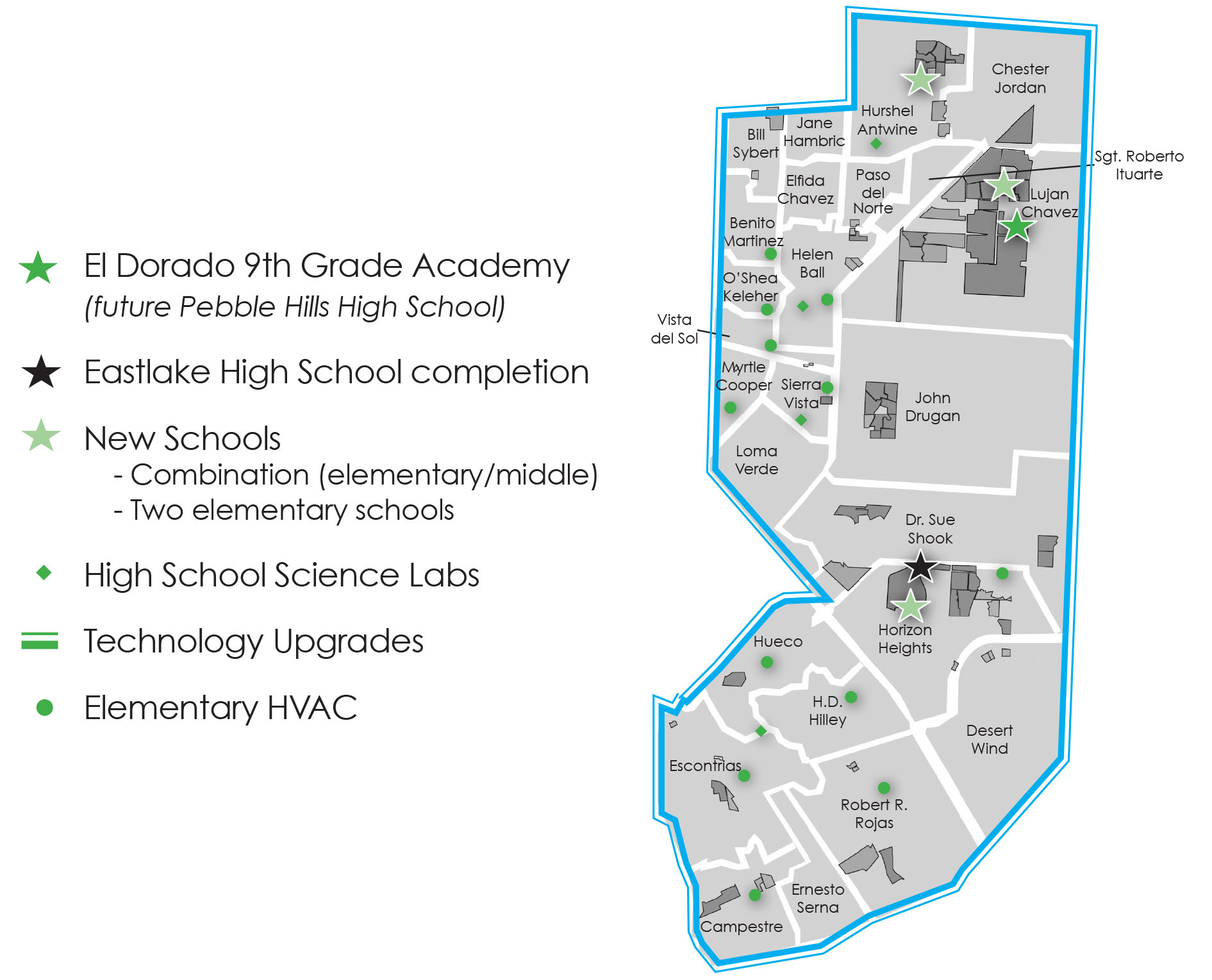Bond 2011 Map for the new high schools