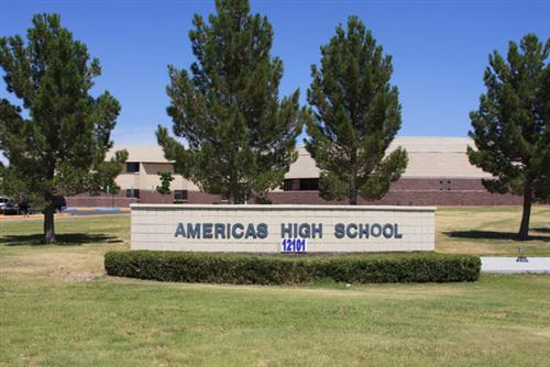 Americas High School Front Lawn and Sign