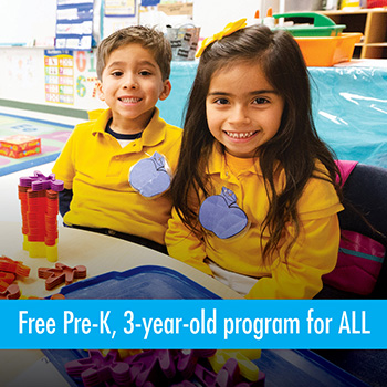 Free Pre-K, 3-year-old program for ALL